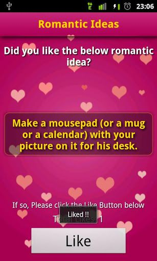 Romantic-Ideas-App-Screenshot