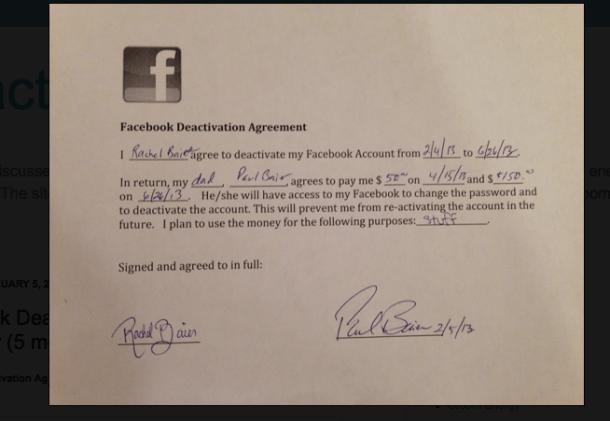 Un tata i-a platit fiicei de 14 ani suma de 200 de dolari sa renunte la Facebook