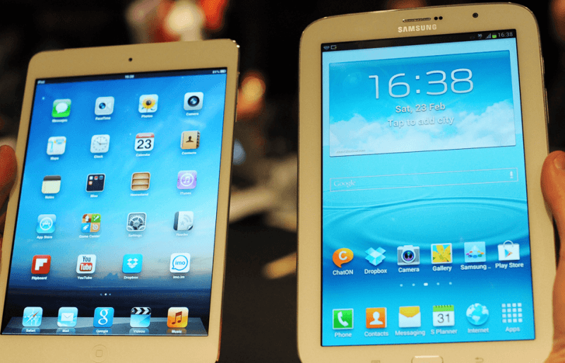 Galaxy Note 8 vs iPad Mini