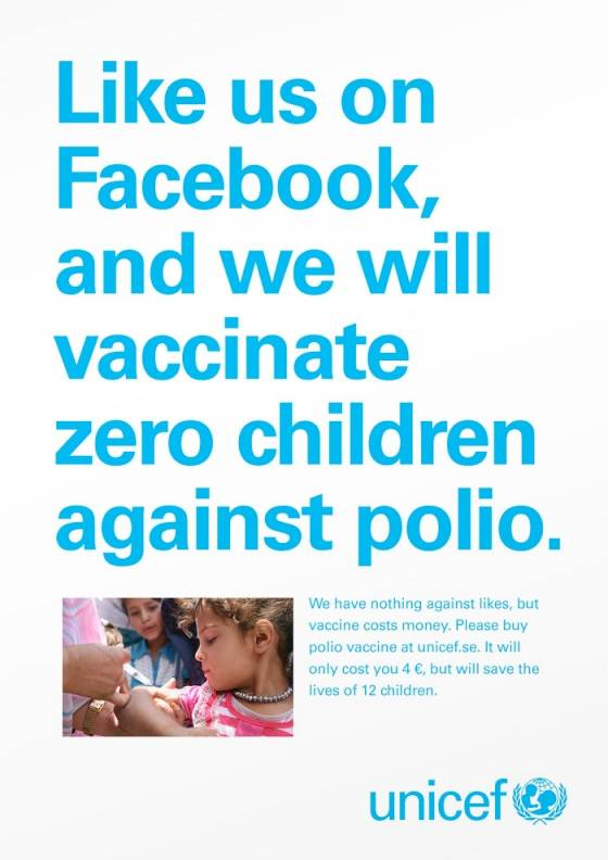 campanie facebook unicef suedia