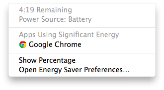 battery menu bar