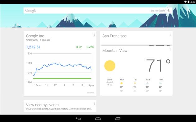 lansatorul Google Now