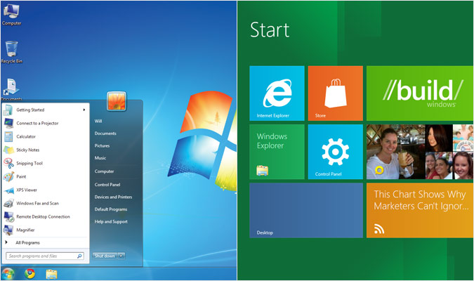 Windows 7 si Windows 8