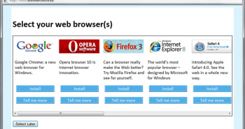 selectare browser favorit in windows