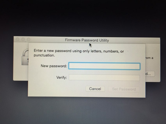 Mac Firmware Password