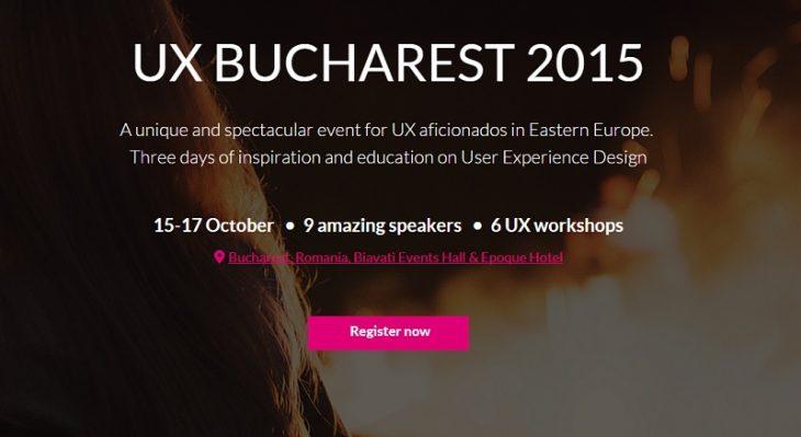 UX Bucharest 2015