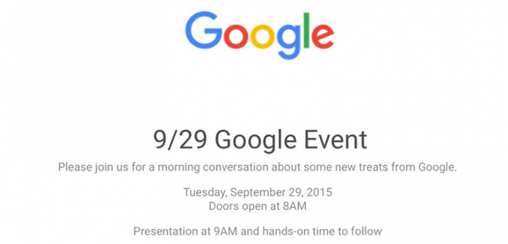 Eveniment Google 2015