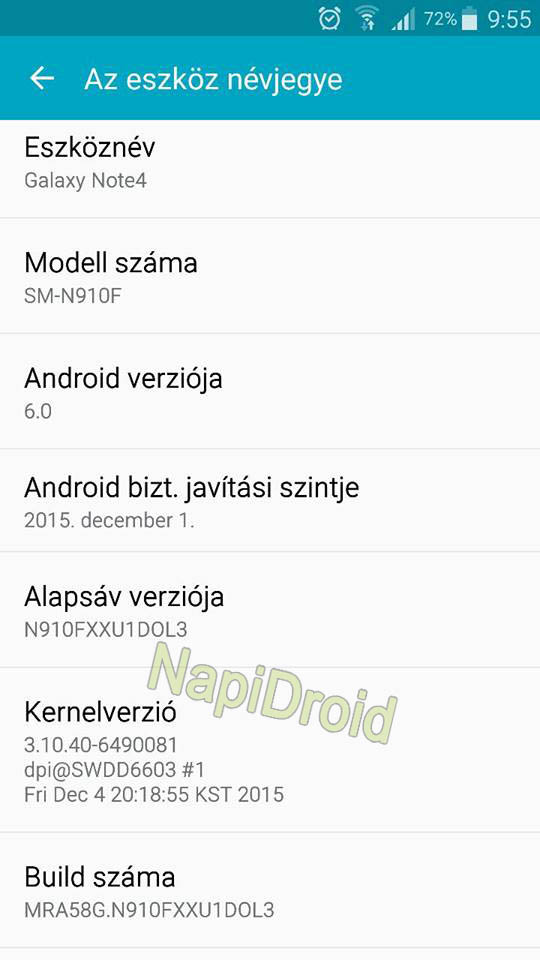 Android 6.0 Galaxy Note 4