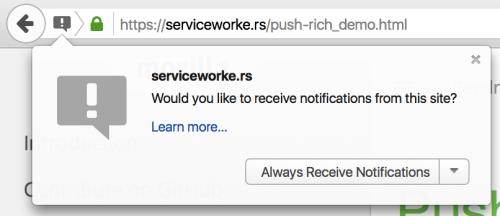Notificări PUSH Firefox