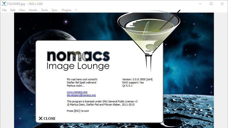 Nomacs – vizualizarea și editarea imaginilor (descarcă)
