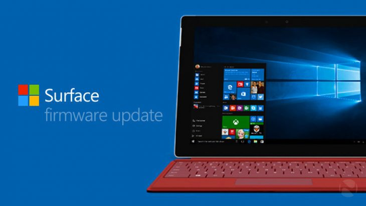 Update firmware Surface 3