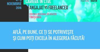 Angajat vs. Freelancer la conferinta Carierera in Ctrl 2016