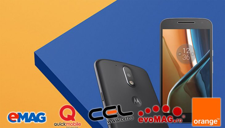 Lenovo Moto G4 și G4 Plus la eMag, Quickmobile, Cel.ro, evoMag și Orange