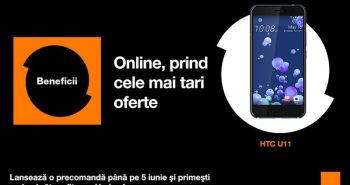 HTC U11 la precomanda la Orange