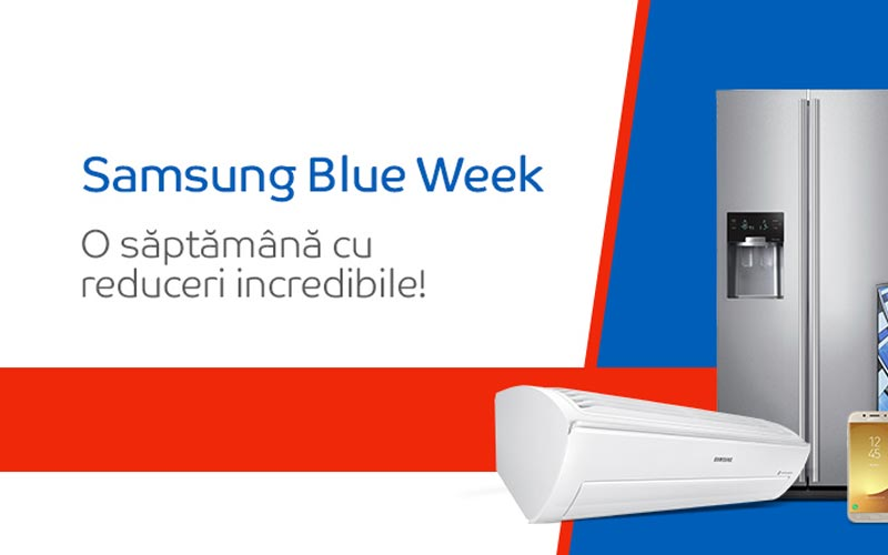 Samsung Blue Week aduce reduceri bune la eMag