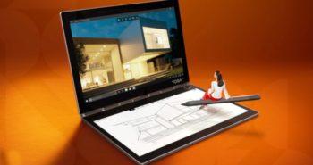 Lenovo Yoga Book cu ecran E Ink