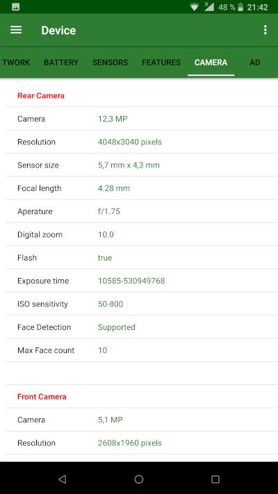 Detalii tehnice Nokia 8 Sirocco