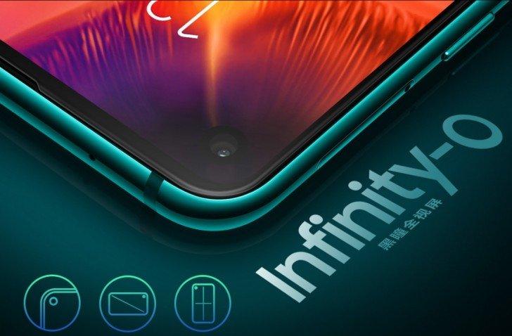 Ecranul Infinity-O de pe Samsung Galaxy A8s