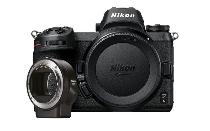 Aparat foto mirrorless Nikon Z6 cu inel adaptor FTZ