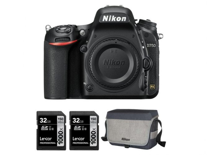 Pachet aparat foto Nikon D750