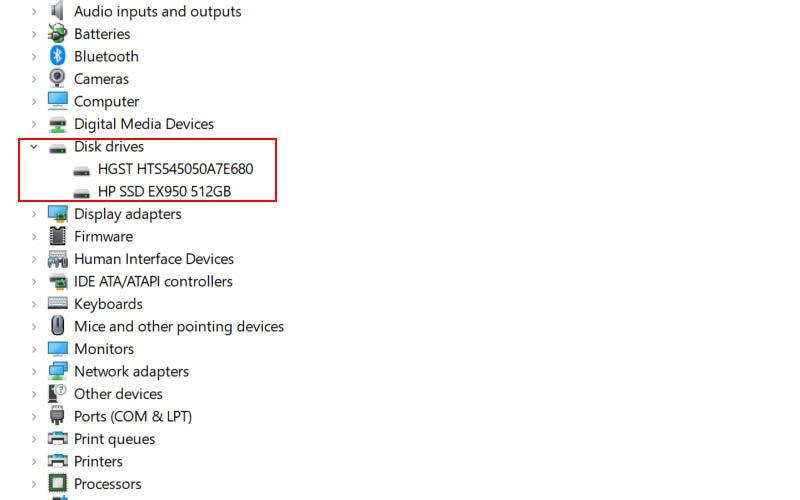 Identificare HDD sau SSD în Windows Device Manager