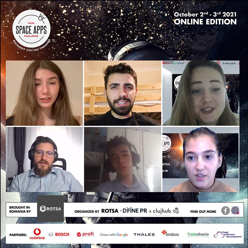 Câștigători NASA Space Apps Challenge România 2021